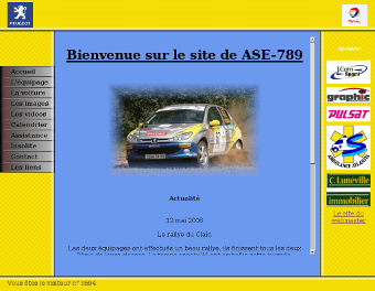 Screenshot du site de ASE 789