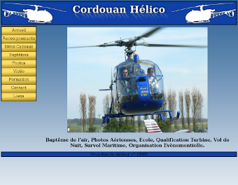 Screenshot du site de Cordouan Hélico
