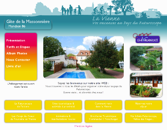 Screenshot d'un des Mini-Site